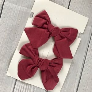 c63773959cdd Other - Brand New Set of 2 Burgundy Bows
